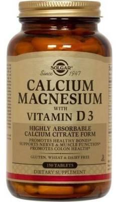 Солгар Кальций, Магний с витамином D3