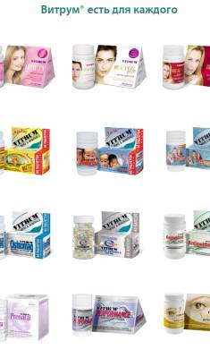 Витрум линейка витаминов